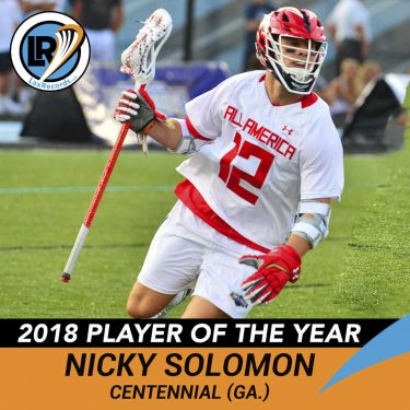 Nicky Solomon from Centennial Player Profile by LaxRecords.com